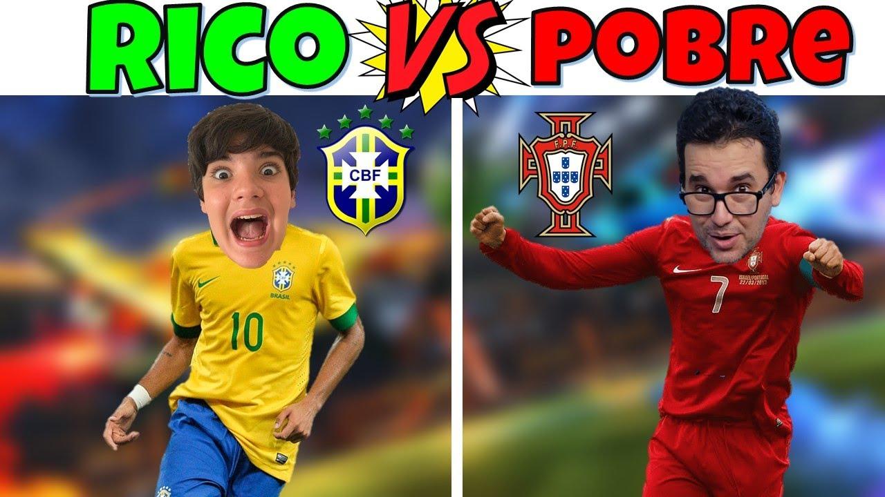 RICO VS POBRE | NEYMAR VS CRISTIANO RONALDO NO ROCKET LEAGUE | PEDRO MAIA
