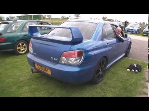 Loud Straight Through Exhaust Pipe On Subaru Impreza WRX STi