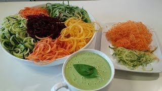 Crudivegan - les spiraliseurs de légumes, utilisation et comparaison
