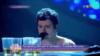 "Freddie Mercury ""Love of my life/Somebody to love"" Fer Dente y Benja Amadeo TCMS (28-09-14)"