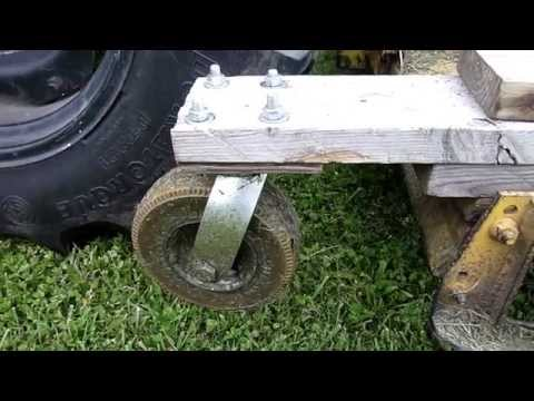 OldGuyDIY Woods Mower to Finish Mower - Add Caster Wheels