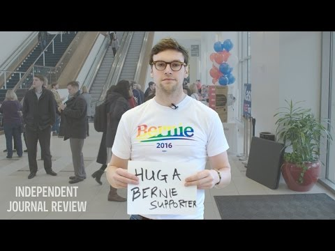 Bernie Supporter Asks For Hugs At A Trump Rally