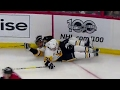 teammates collide malkin and daley go hard into boards