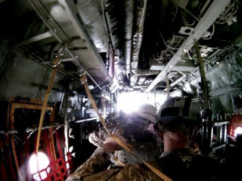 10th Special Forces Group (Airborne) C-130 Static Line Ramp Jump Go-Pro