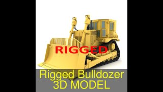 3D Model of Rigged Bulldozer Review