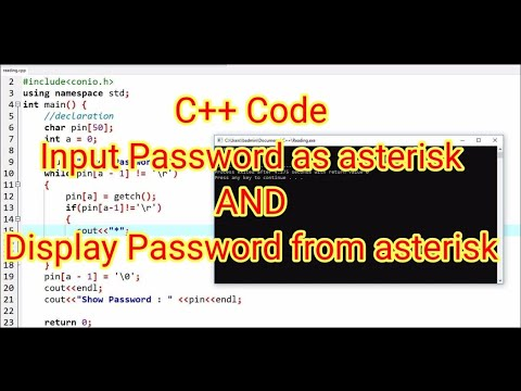 Review #11 : Password asterisk (star) in C++ Code