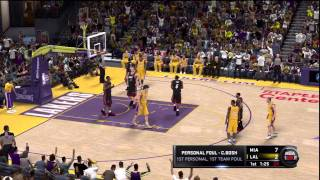NBA 2K11 Gameplay (PS3) - Miami Heat vs Los Angeles Lakers