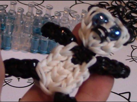 comment faire un panda avec des élastiques - youtube