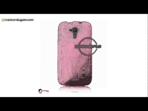 Housse TPU Wiko Darknight Mocca Design Gel Frost Rose