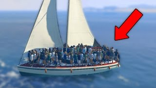 CAN 100+ PEOPLE SINK A BOAT IN GTA 5?