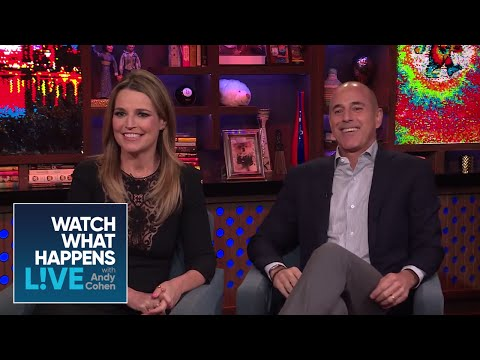 TODAY's Matt Lauer And Savannah Guthrie Talk Farting On Air, Blacklisting | WWHL