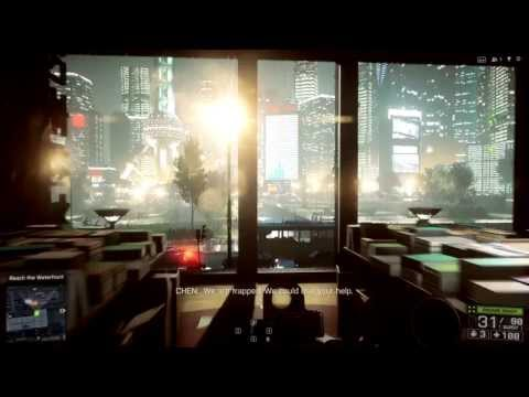 Battlefield 4 PC Max Settings Ultra Graphics High Frame Rate Campaign Mission 2: Shanghai