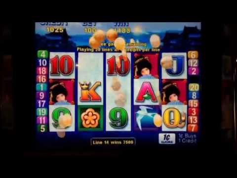 ~*Geisha Aristocrat Pokie Slot Machine*~ *SWEET BONUS FREE SPINS WIN*@ $1 bet~GAMER COUPLE ALLIANCE~