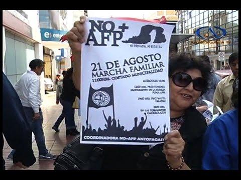 Llaman a nueva marcha en contra de las AFP