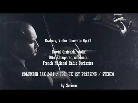 Brahms, Violin Concerto Op 77, David Oistrakh