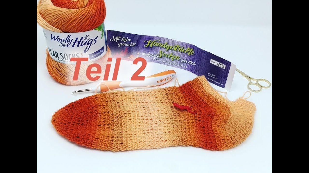 Socken Häkeln Einfach Toe Up Mit Year Socks Von Veronika Hug Teil 2