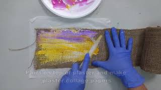 Venetian Plaster Mixed Media Painting