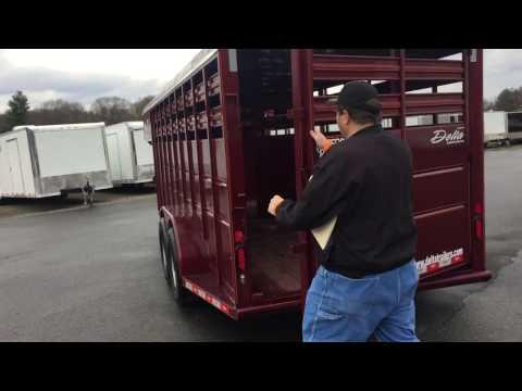 Gooseneck 20' Livestock Trailer Walk-around   Pro-Line Trailers