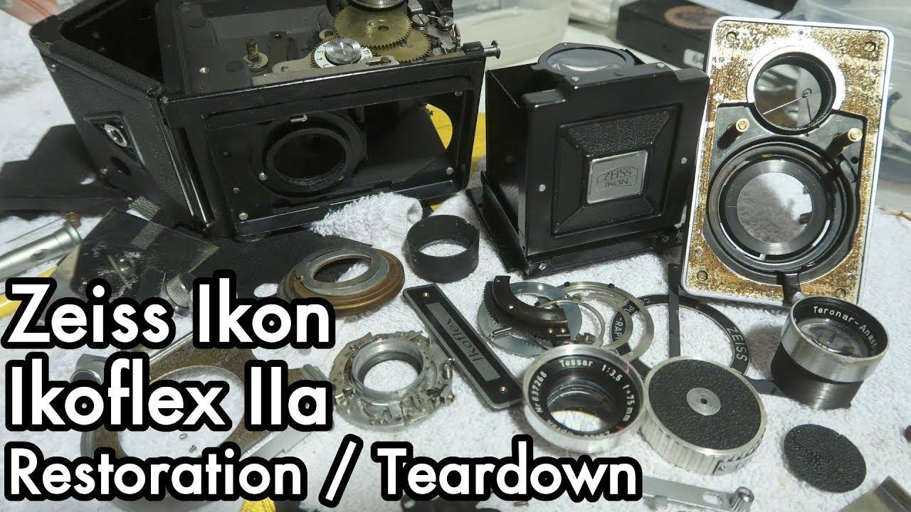 1952 Zeiss Ikon Ikoflex IIa Camera: Teardown, Remove Lens Fungus,  Lubrication, Shutter Repair