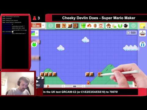 Cheeky Devlin Does Super Mario Maker - 01/10/2015 - Part 1 (Creation)