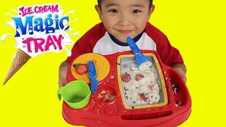 Making Ice Cream With Magic Tray Fun DIY Yummy Kids Ice Cream Maker Ckn Toys