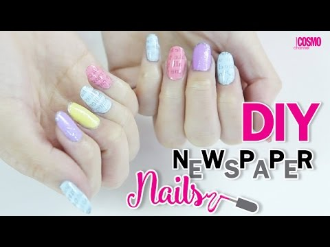 [Cosmo Channel] DIY Newspaper nail - YouTube