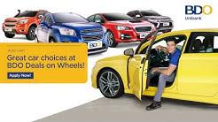 BDO Auto Loan Deals on Wheels