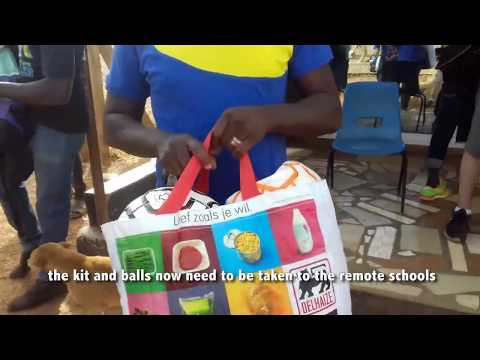 Football Donations to schools in Upper West Ghana