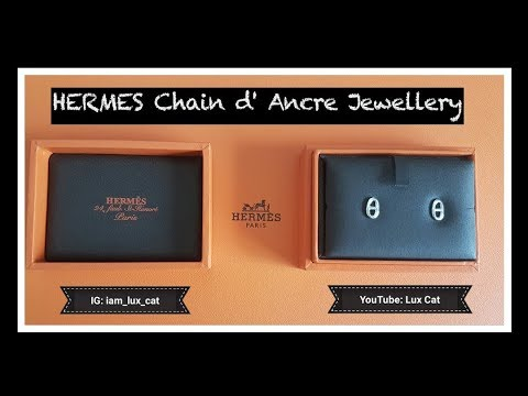 935d760acd4c Unboxing Hermes Jewelry   Chain d  Ancre Earrings   Pendant - YouTube