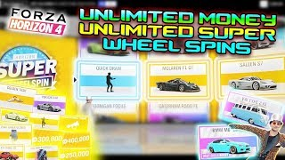 Forza Horizon 4 - FASTEST MONEY GLITCH - SOLO (ONLY WORKS FOR PC) UNLIMITED SUPER WHEEL SPINS!
