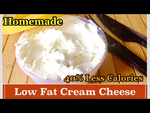Homemade Low Fat  Cream Cheese Recipe | How To Make Low Fat Cream Cheese At Home
