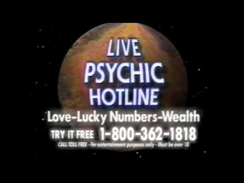 1992 - LIVE PSYCHIC HOTLINE - 1-800-362-1818 - Love, Lucky Numbers, Wealth