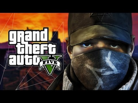 WATCH DOGS U GTA V ?! Grand Theft Auto V - Watch Dogs Mod