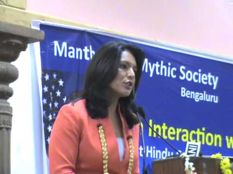 Tulsi Gabbard, First Hindu Congresswoman of USA interacts with Bengalurians