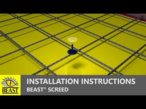 BEAST SCREED | Installation Instructions