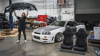 The CRAZIEST R34 Skyline GTR Parts!