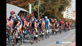 54. Cumhurbaşkanlığı Türkiye Bisiklet Turu Konya Etabı'ndan görüntüler - Belediye önü