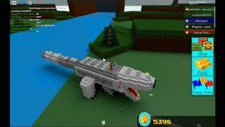roblox build a boat i have a indominus rex!!!