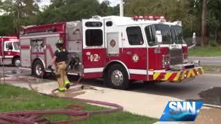 SNN: Fire at Sarasota house spreads to three backyards