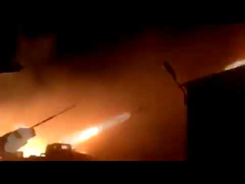 Grads DNR firing at APU 01 Feb 2015  Ukraine Hot News