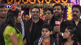 Telugu NRIs Participated In Ayyappa Shastri Preeti Pooja | Sai Datta Peetham | New Jersey | TV5 News