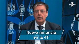 Fuentes informan que su renuncia será efectiva a partir del 1 de octubre; al momento se desconoce el motivo de su dimisión