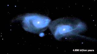Milky Way and Andromeda Galaxies Collision Simulated   Video