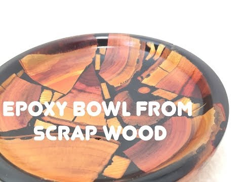How to make a Epoxy Bowl From Scrap Wood/ #DIY