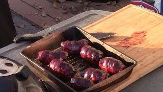 Куриные рулеты BBQ с чили, сыром и беконом