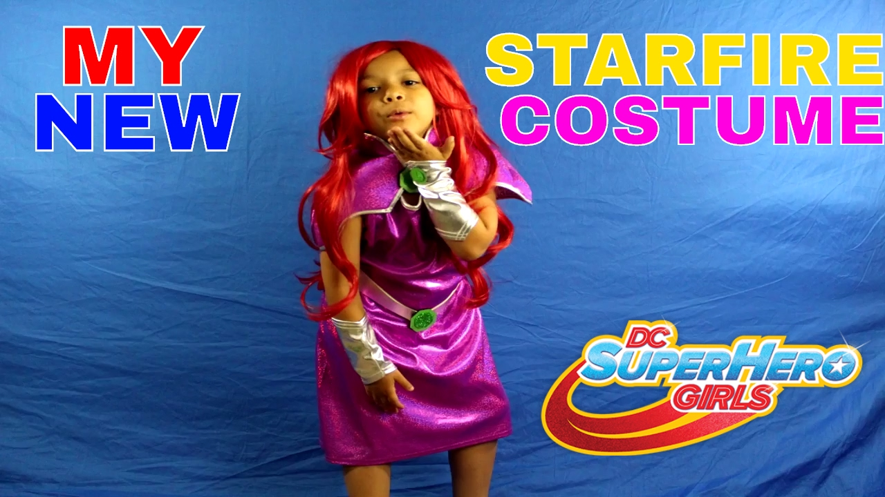 My New Starfire Costume Dc Superhero Girls Youtube