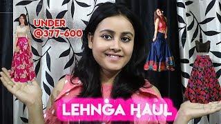 Affordable Lehengas Haul/ Lehengas Under 350- 500/(Giveaway month)/ Aakanksha Kumar