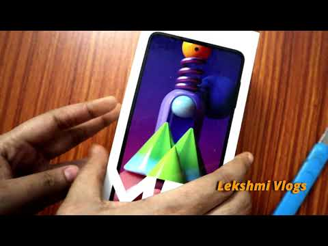Samsung Galaxy M51 (Electric Blue, 8GB RAM, 128GB Storage ,64 MP cam) Unboxing - Bought from Amazon