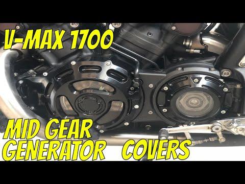 Yamaha V-Max 1700 Generator & Mid Gear Covers. В-Макс 1700 Защита рук, установка прозрачных крышек