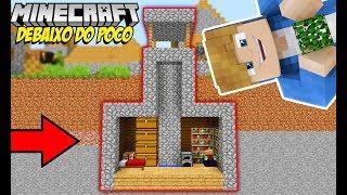 Minecraft Tutorial: BASE SECRETA DENTRO DO POÇO DA VILA
